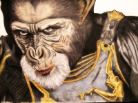 General Thade, Tim Burton, Planet of the Apes, monkeyswithbrushes, Tim Roth
