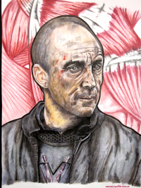 Roose Bolton,  Michael McElhatton, Game of Thrones, monkeyswithbrushes